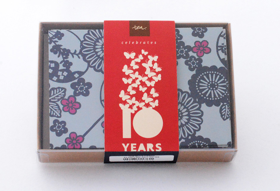 Tea Collection 10th Anniversary Note Card Set