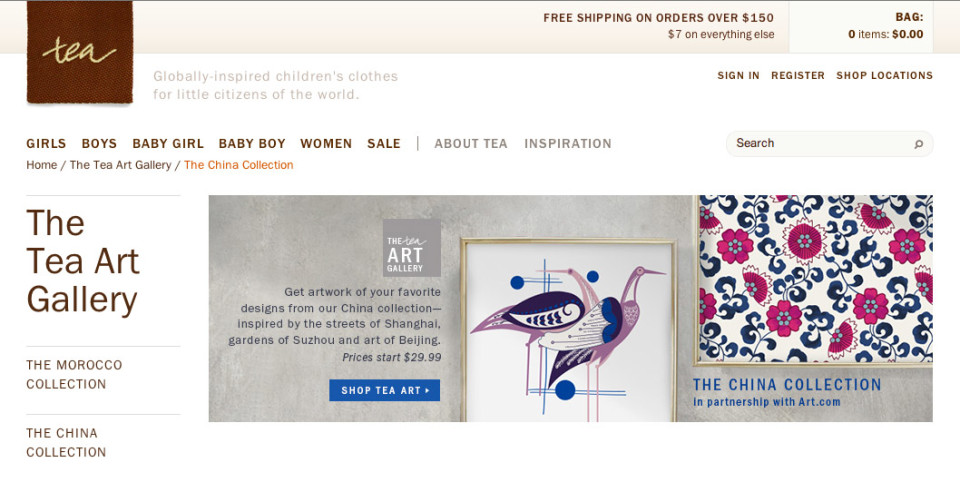 Tea Collection Art.com Partnership