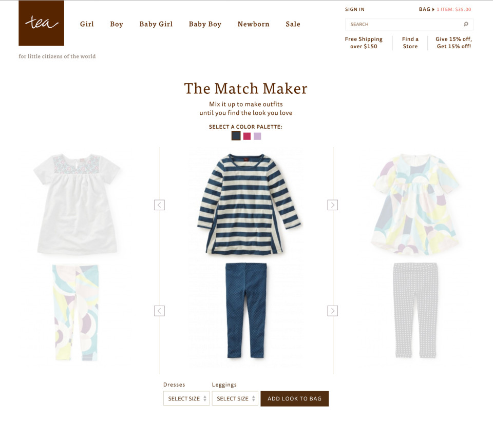 TeaCollection.com Match Maker Shop