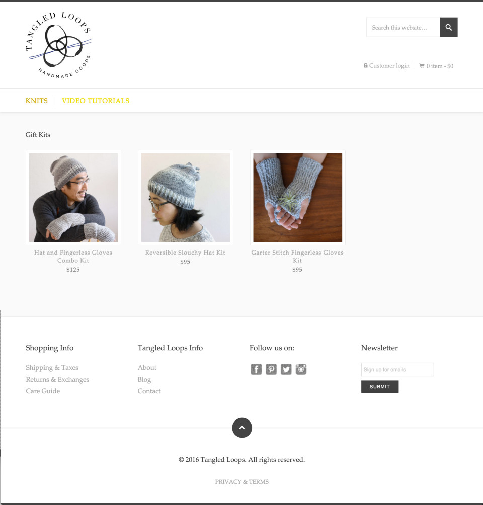 TangledLoops.com Site